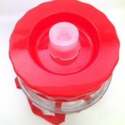 Бутыль стеклянная с гидрозатвором.