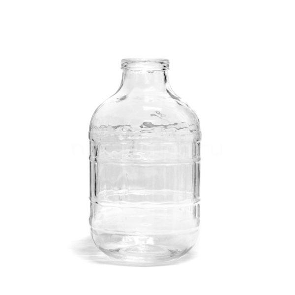 Банка с крышкой, прозрачное стекло, 10 л