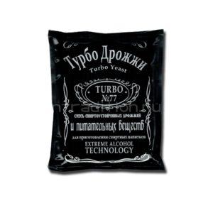 Спиртовые турбо-дрожжи Turbo Yeast 77 для самогона из любого сырья, 120 гр.